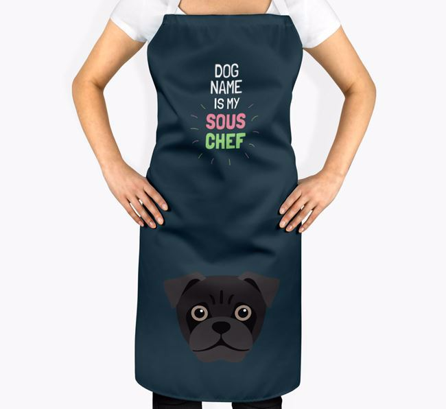 'Your Dog is my Sous Chef' Apron with Jug Icon
