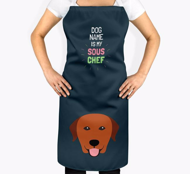 'Your Dog is my Sous Chef' Apron with Labrador Retriever Icon