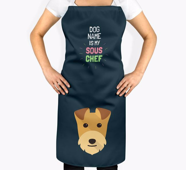 'Your Dog is my Sous Chef' Apron with Lakeland Terrier Icon