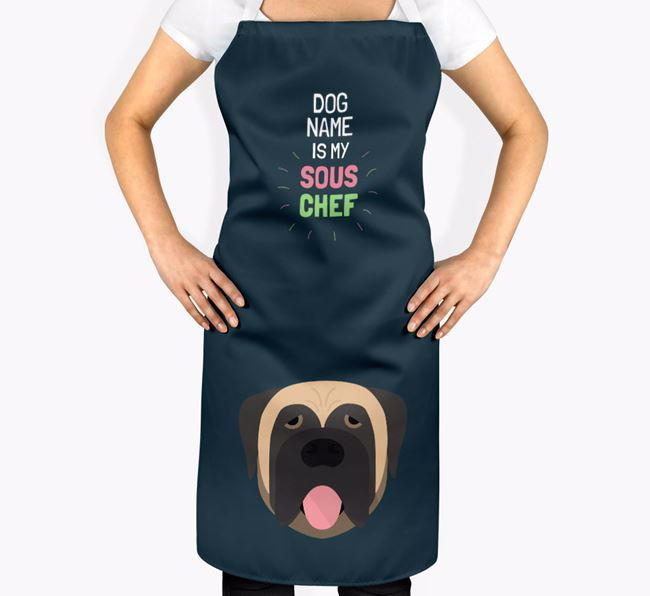 'Your Dog is my Sous Chef' Apron with Mastiff Icon