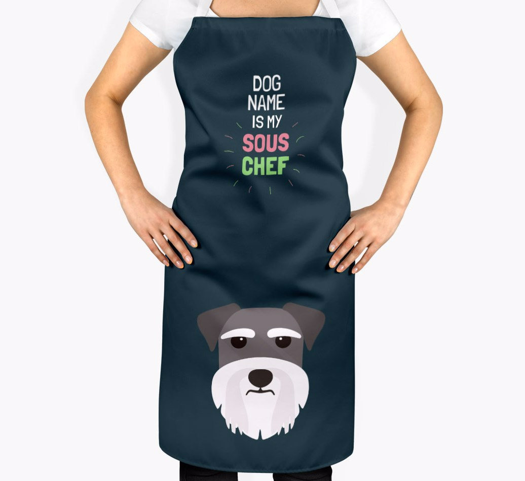 Dog S Name Is My Sous Chef Personalized Miniature Schnauzer Apron Yappy Com