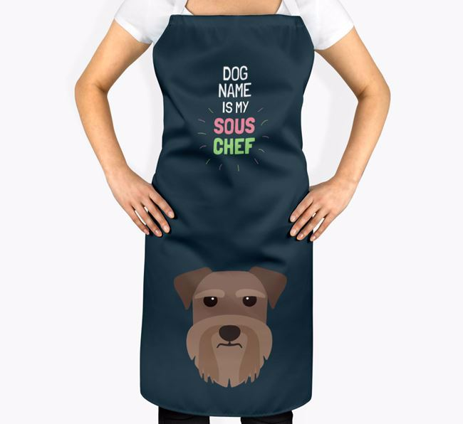 'Your Dog is my Sous Chef' Apron with Miniature Schnauzer Icon
