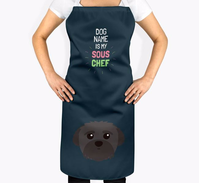 'Your Dog is my Sous Chef' Apron with Peek-a-poo Icon