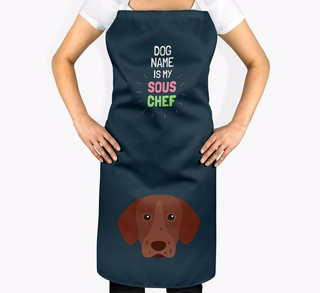 'Your Dog is my Sous Chef' Apron with Pointer Icon