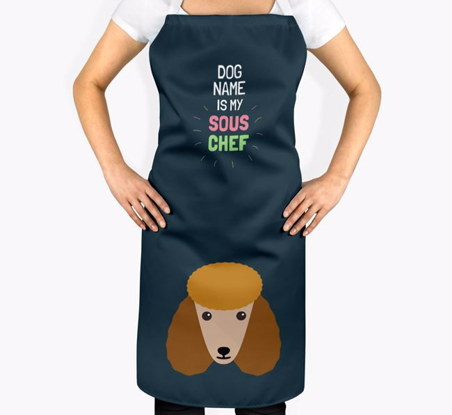 'Your Dog is my Sous Chef' Apron with Poodle Icon