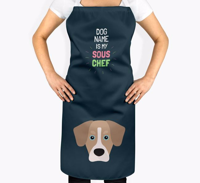 'Your Dog is my Sous Chef' Apron with Siberian Cocker Icon