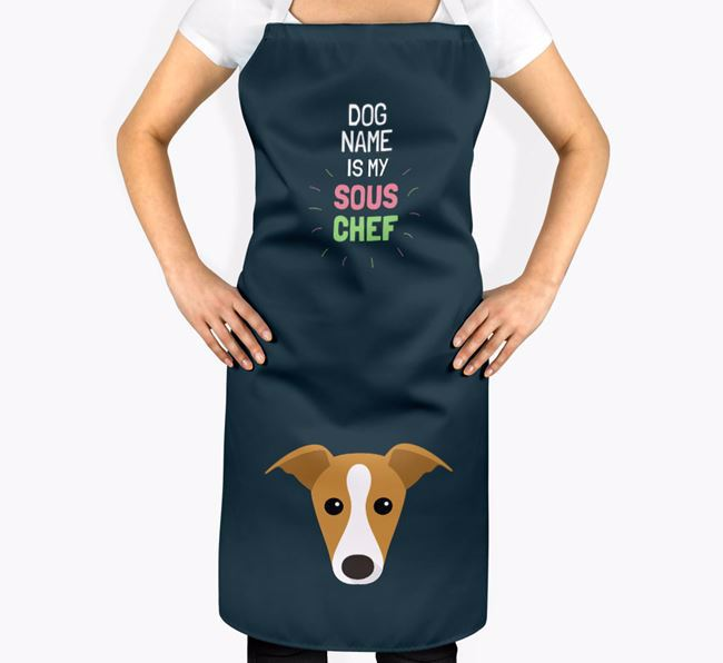 'Your Dog is my Sous Chef' Apron with Whippet Icon