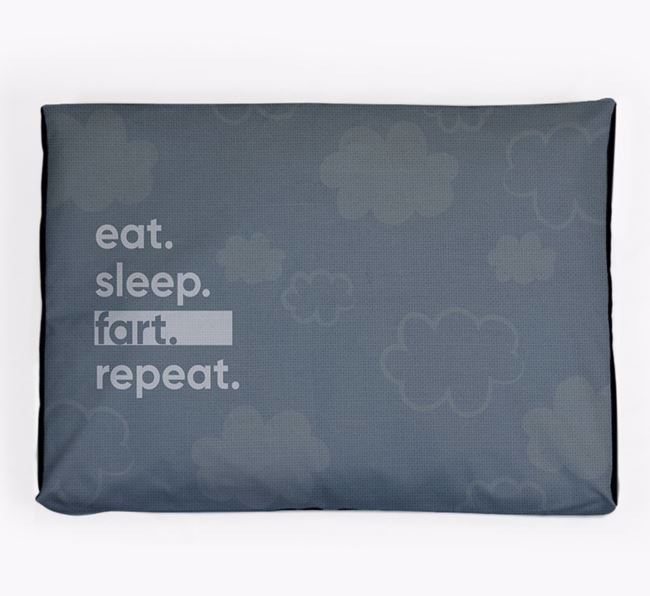 'Eat, Sleep, Fart, Repeat' Dog Bed for your Scottish Terrier