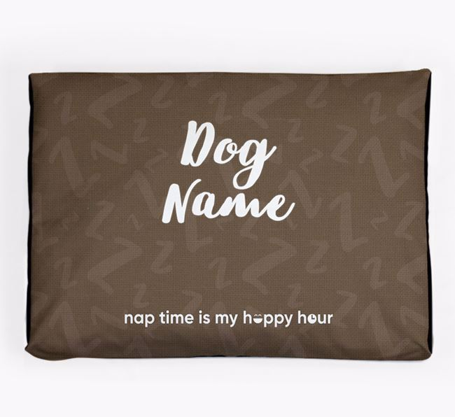 Personalised 'Happy Hour' Dog Bed for your Toy Poodle