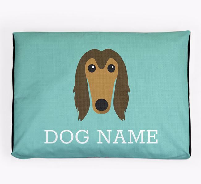 Personalised Icon Dog Bed for your Afghan Hound