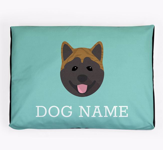 Personalised Icon Dog Bed for your Akita