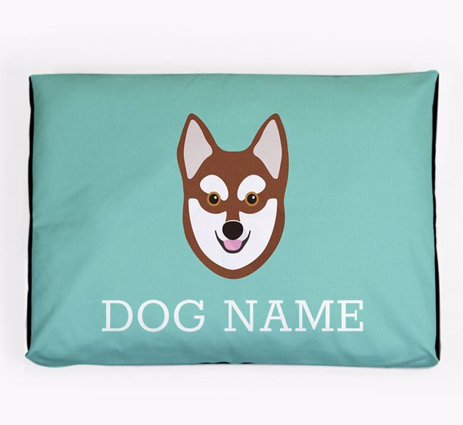 Personalised Icon Dog Bed for your Alaskan Klee Kai