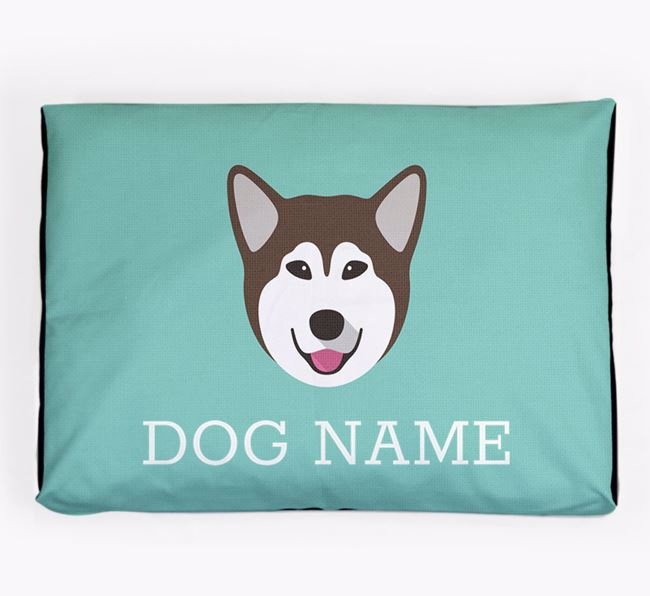 Personalised Icon Dog Bed for your Alaskan Malamute