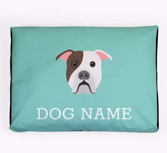 Personalised Icon Dog Bed for your American Bulldog