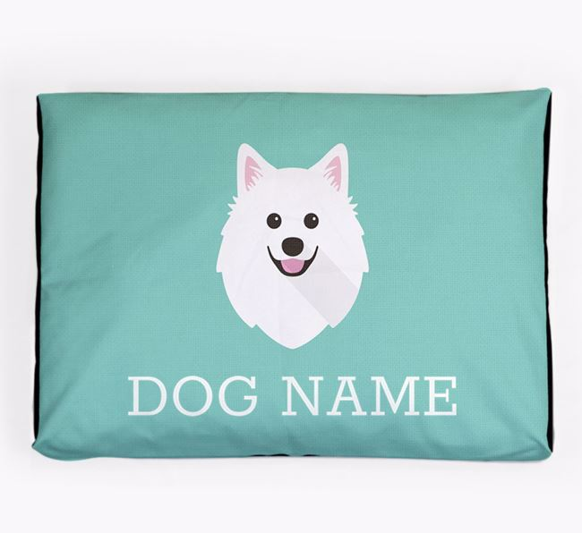 Personalised Icon Dog Bed for your American Eskimo Dog