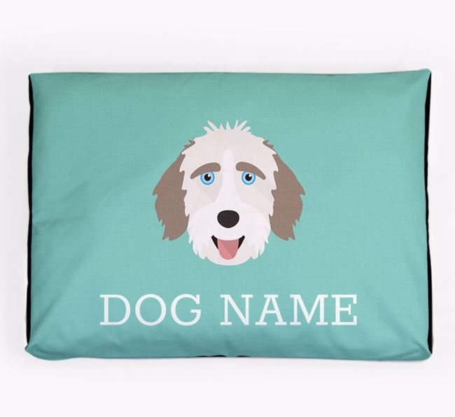 Personalised Icon Dog Bed for your Aussiedoodle