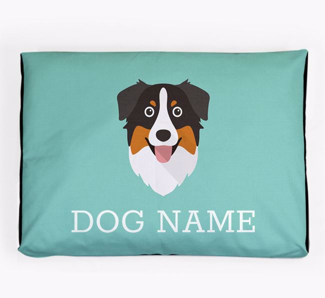 Personalised Icon Dog Bed for your Australian Shepherd