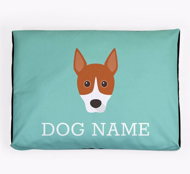 Personalised Icon Dog Bed for your Basenji