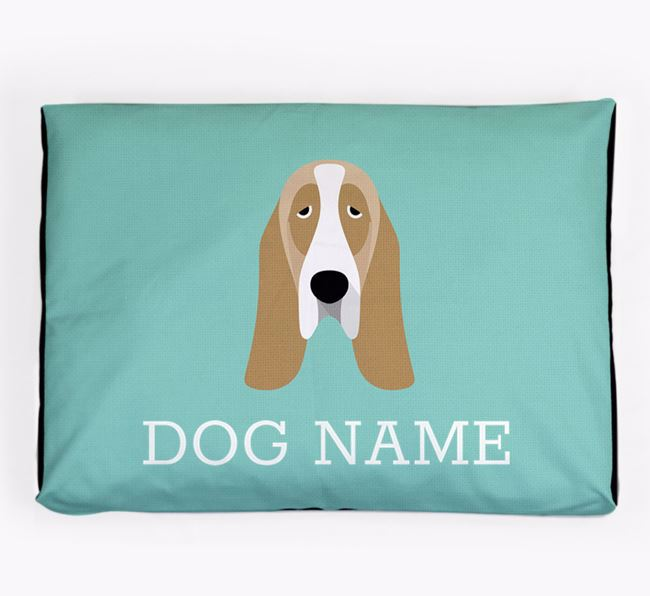 Personalised Icon Dog Bed for your Basset Hound