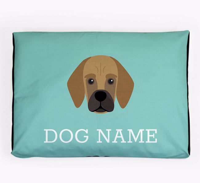 Personalised Icon Dog Bed for your Bassugg