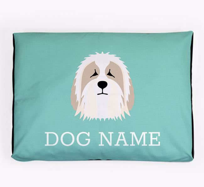 Personalised Icon Dog Bed for your Bearded Collie