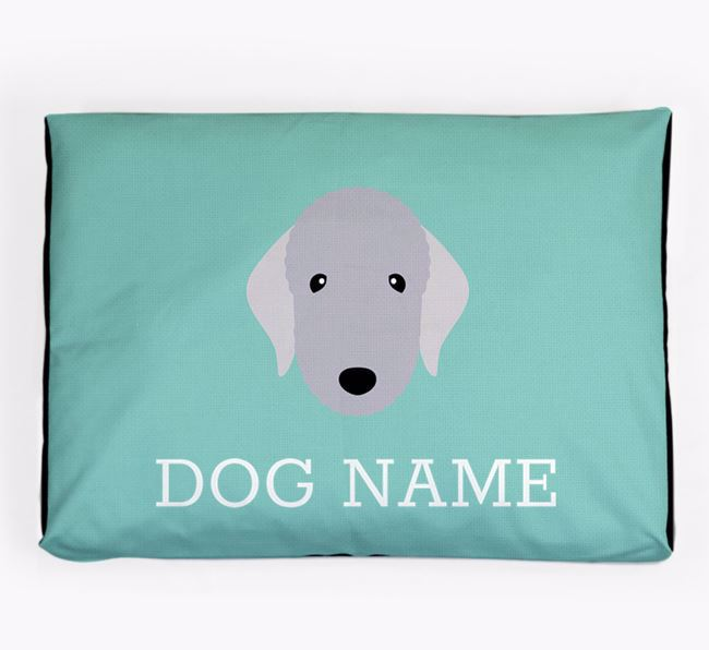 Personalised Icon Dog Bed for your Bedlington Terrier