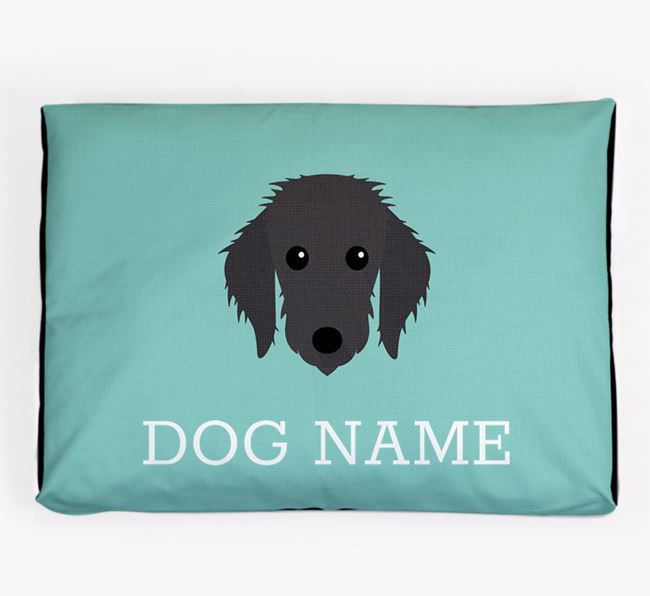 Personalised Icon Dog Bed for your Bedlington Whippet