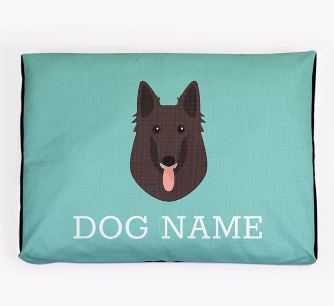 Personalised Icon Dog Bed for your Belgian Groenendael