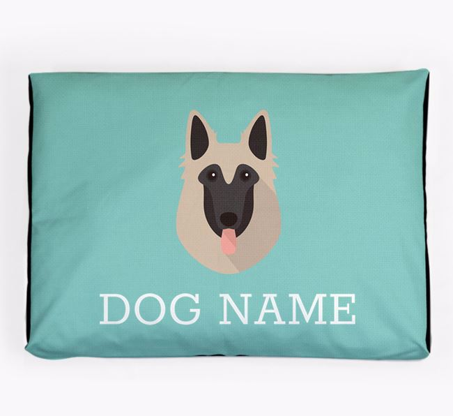 Personalised Icon Dog Bed for your Belgian Tervuren
