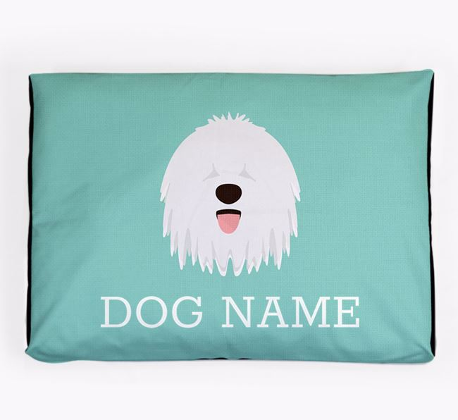 Personalised Icon Dog Bed for your Bergamasco