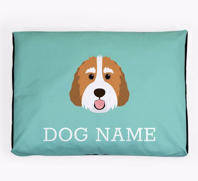 Personalised Icon Dog Bed for your Bernedoodle