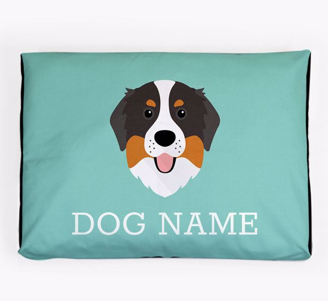 Personalised Icon Dog Bed for your Bernese Mountain Dog
