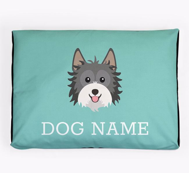 Personalised Icon Dog Bed for your Biewer Terrier
