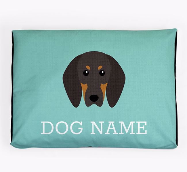 Personalised Icon Dog Bed for your Black and Tan Coonhound