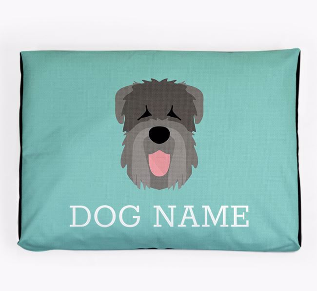 Personalised Icon Dog Bed for your Black Russian Terrier