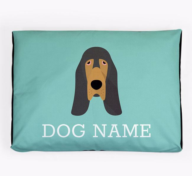 Personalised Icon Dog Bed for your Bloodhound