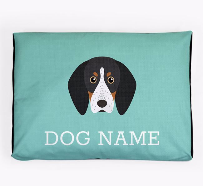 Personalised Icon Dog Bed for your Bluetick Coonhound