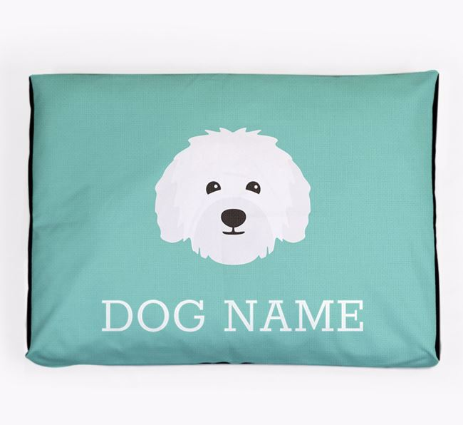 Personalised Icon Dog Bed for your Bolognese