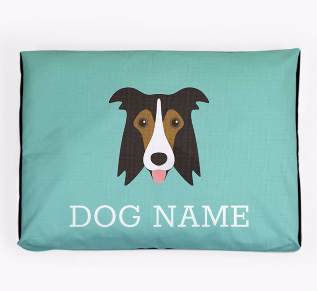 Personalised Icon Dog Bed for your Border Collie