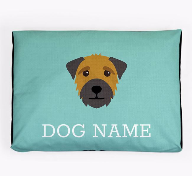 Personalised Icon Dog Bed for your Border Terrier