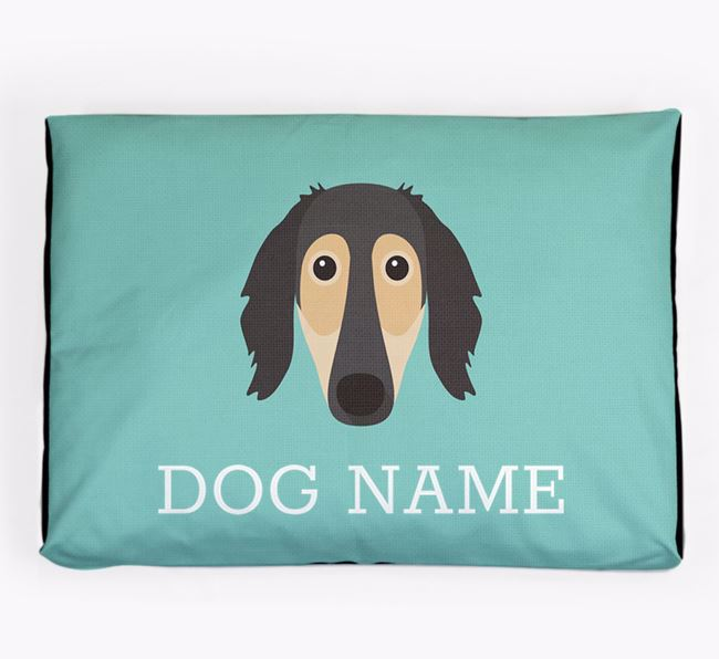 Personalised Icon Dog Bed for your Borzoi
