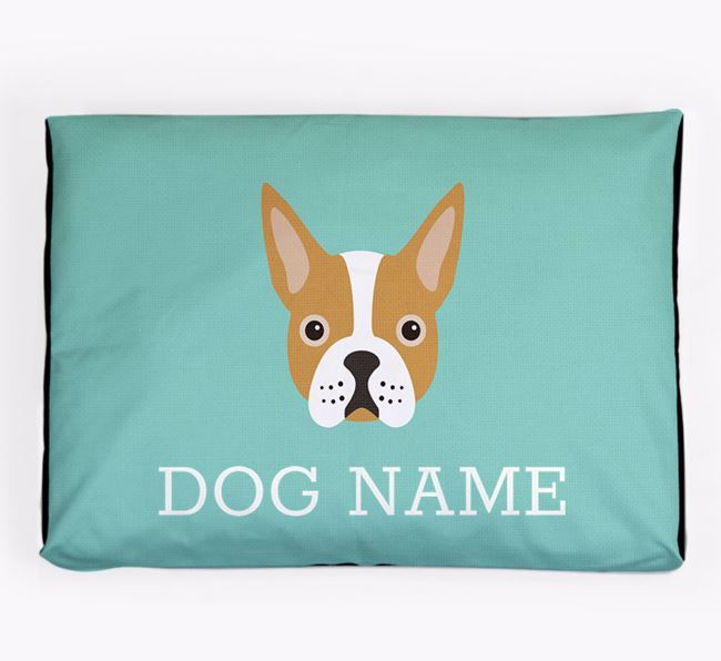 Personalised Icon Dog Bed for your Boston Terrier