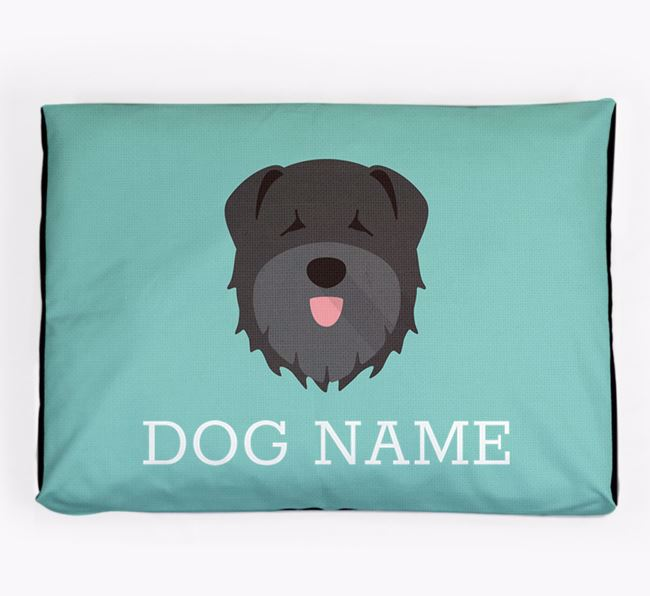 Personalised Icon Dog Bed for your Bouvier Des Flandres