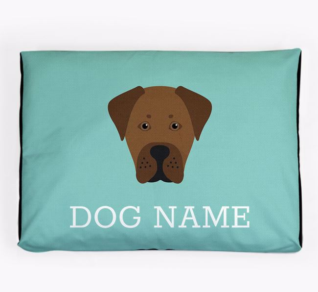 Personalised Icon Dog Bed for your Boxador