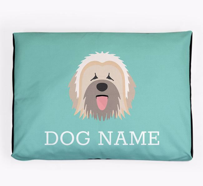 Personalised Icon Dog Bed for your Briard