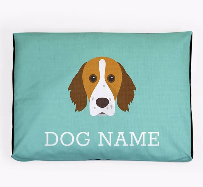 Personalised Icon Dog Bed for your Brittany