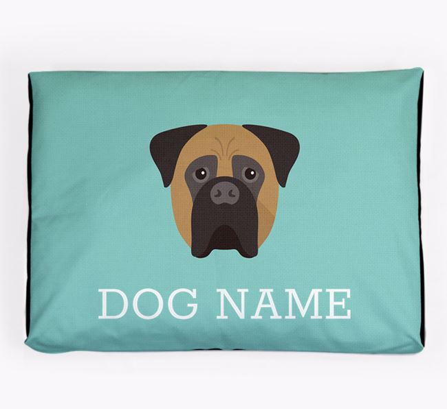 Personalised Icon Dog Bed for your Bullmastiff