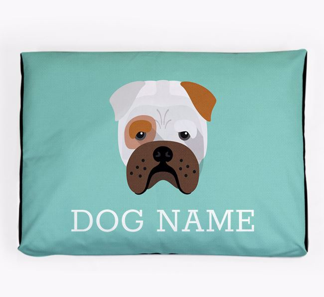 Personalised Icon Dog Bed for your Bull Pei