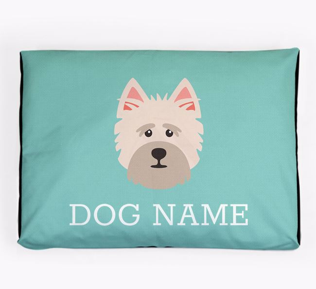 Personalised Icon Dog Bed for your Cairn Terrier