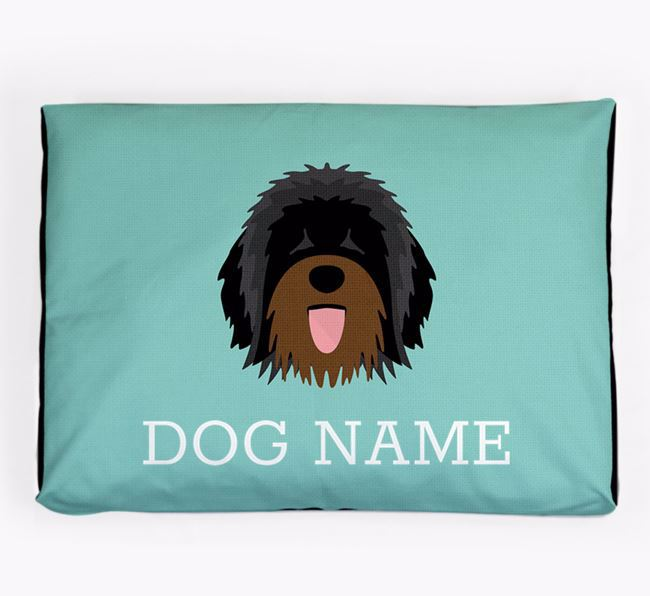 Personalised Icon Dog Bed for your Catalan Sheepdog
